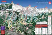 Breckenridge (Vail Resorts) Pistenplan, Ski City Super Pass, USA