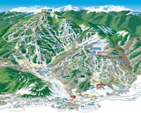 Beaver Creek (Vail Resorts) Pistenplan, Ski City Super Pass, USA