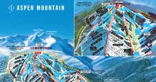 Pistenplan f�r Skigebiet Aspen Mountain AJAX, Colorado, USA