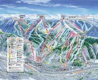 Vail (Vail Resorts) Pistenplan Rückseite, Ski City Super Pass, USA